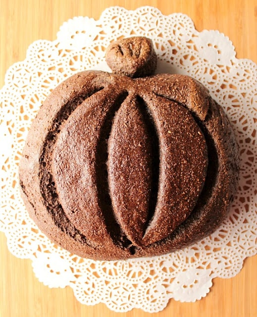 Dark Rye Pumpkin Yeast Bread