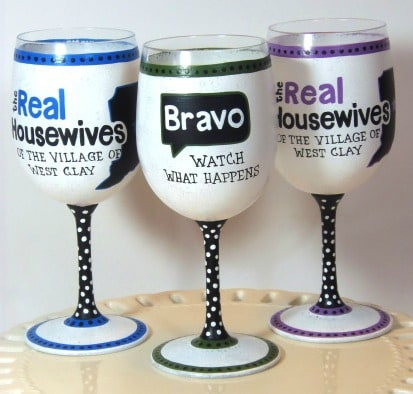 Real Housewives Wine Glasses