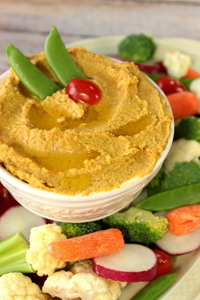 Delicious Roasted Chickpea and Carrot Hummus