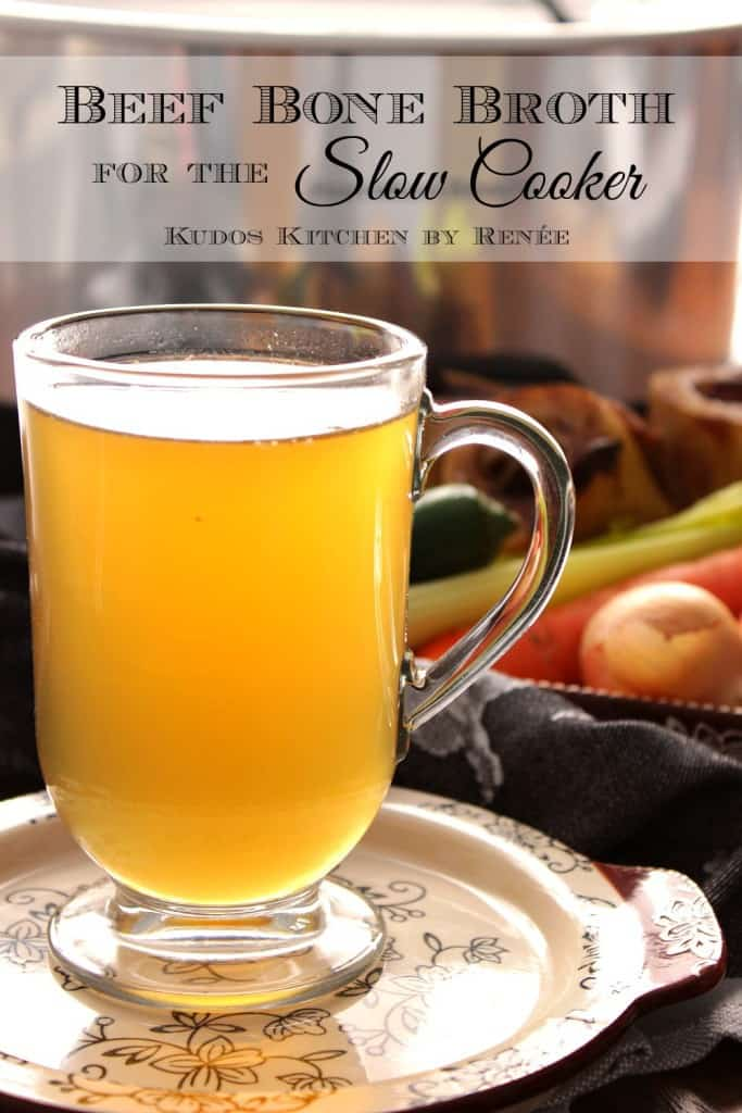 Homemade beef bone broth is easy to make and so healthy for you.