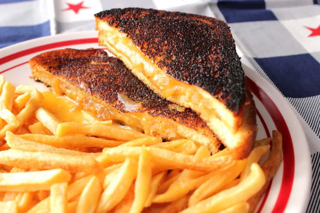 Cheddar and Brie Grilled Cheese