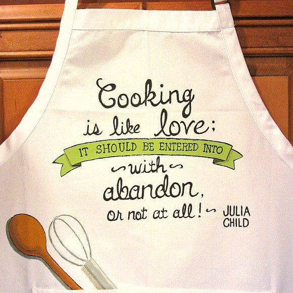 Hand Painted Julia Child Apron