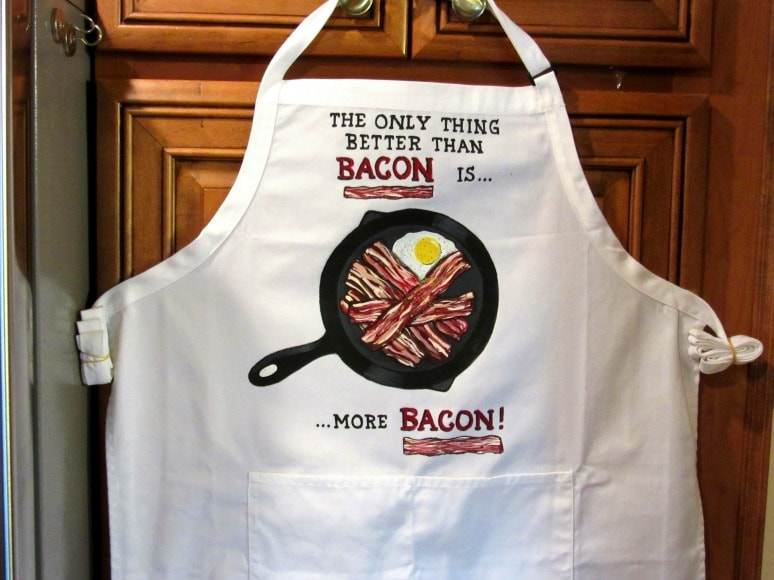 Hand Painted Bacon Lovers Apron