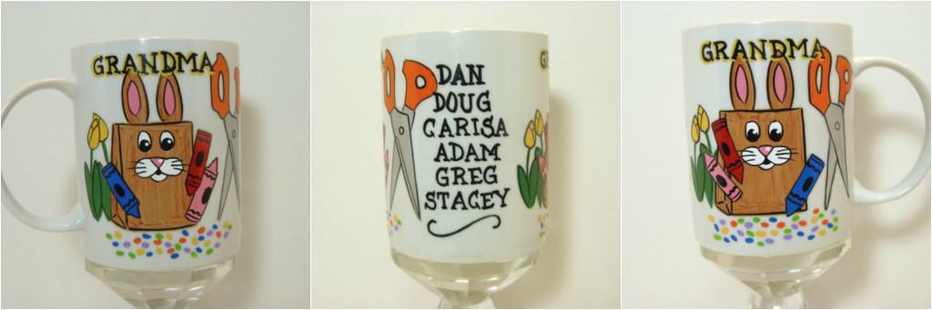 Bunny Bag Custom Painted Coffee Mug