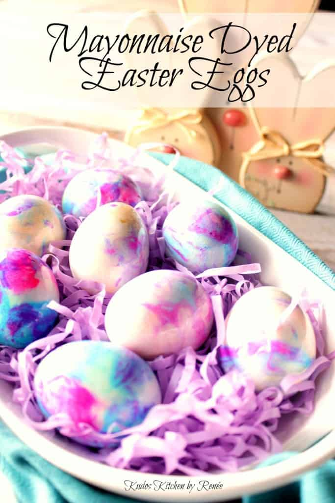 Mayonnaise Tie Dyed Easter Eggs Title text image