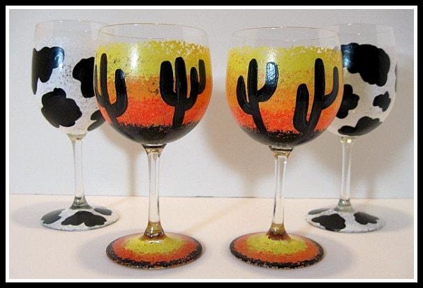 Cactus wine glasses