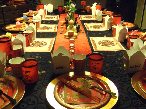 Chinese Inspired Dinner Table