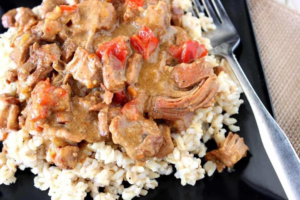 Slow Cooker Gingered Pork with Orange Sauce