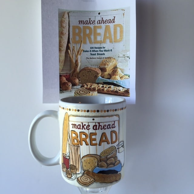 Make Ahead Bread Cookbook Cover Coffee Mug