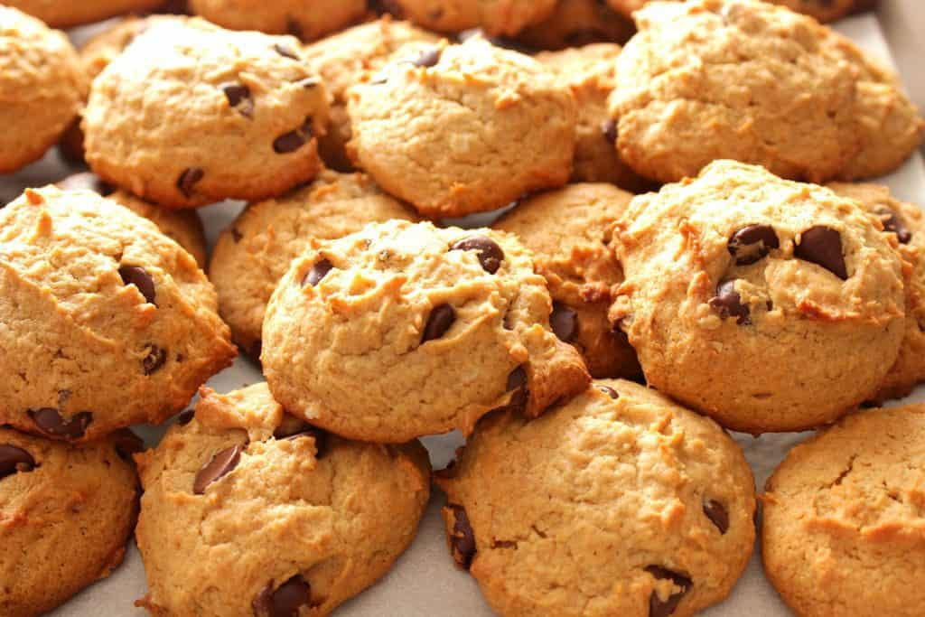 Peanut Butter Banana Chocolate Chip Cookie Pile