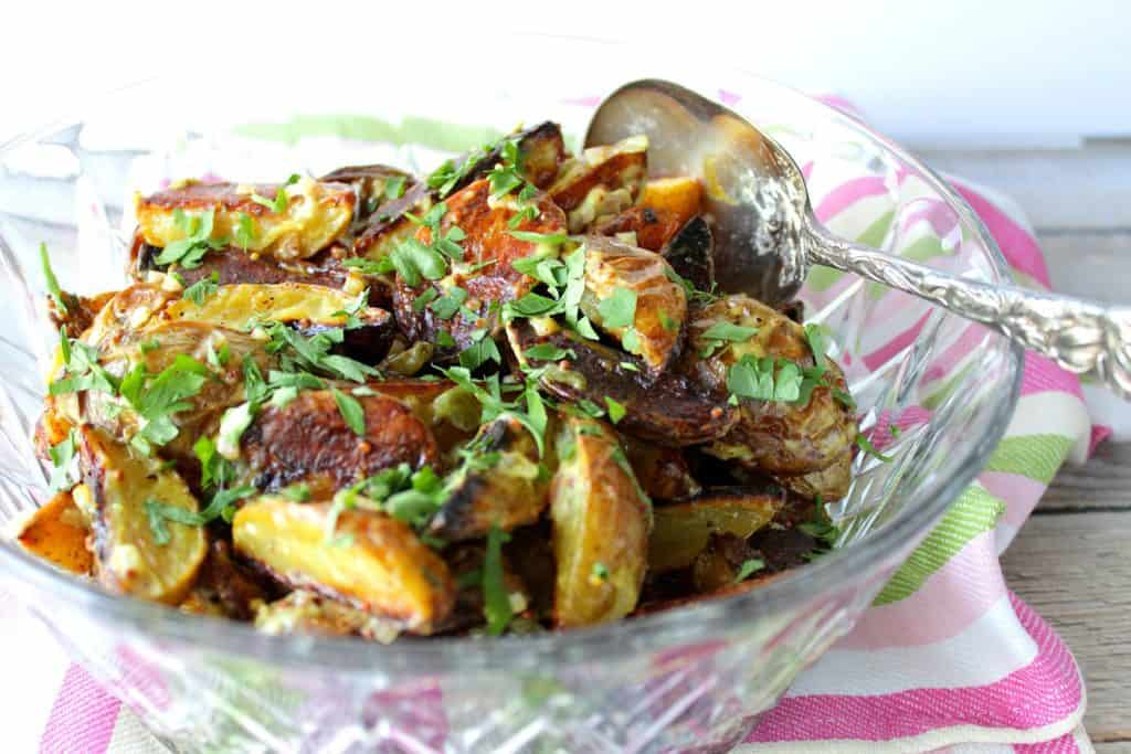 Easy Roasted Potato Salad with Mustard