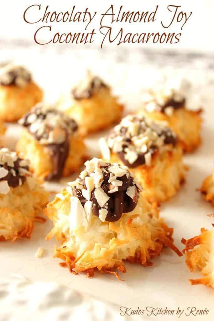 Almond Joy Coconut Macaroon Cookies