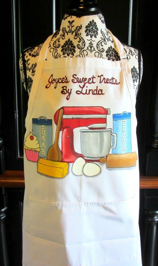 Custom Hand Painted Bakers Apron