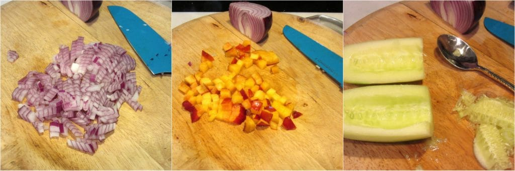 Making Nectarine Avocado Salsa