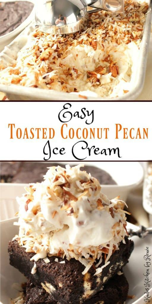 Toasted Pecan Coconut Ice Cream