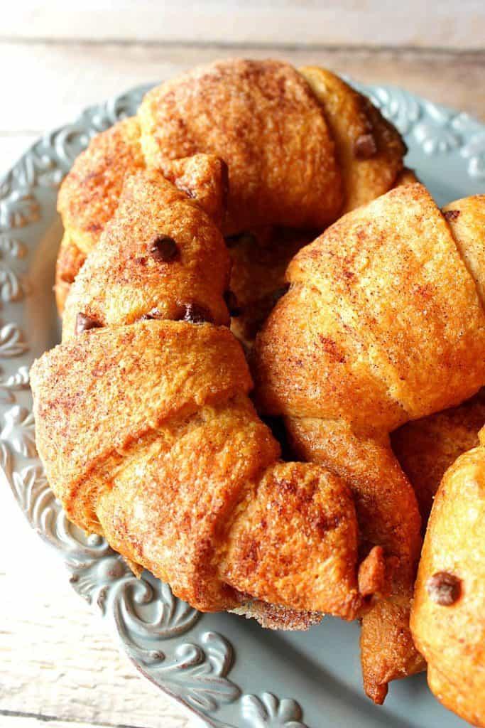 Easy Cinnamon Sugar Croissants