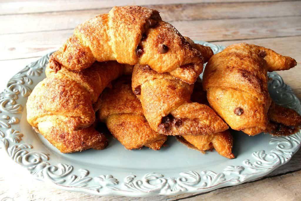 Easy Breakfast Croissants with Cinnamon