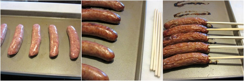 Photo tutorial of how to make beer batter bratwurst.