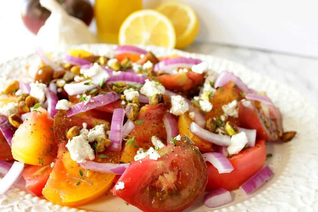 Heirloom Tomato Salad with Pistachios