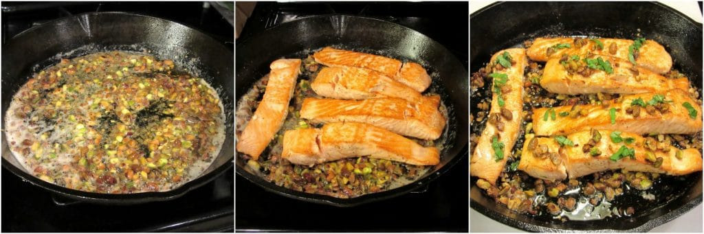 Recipe for Seared Salmon with Pistachio Basil Butter