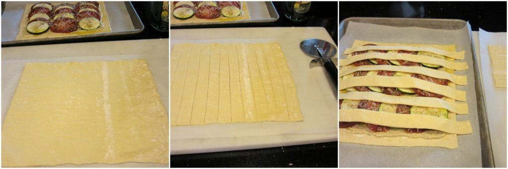 Making a lattice top with puff pastry