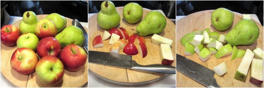 How to make apple pear sauce.