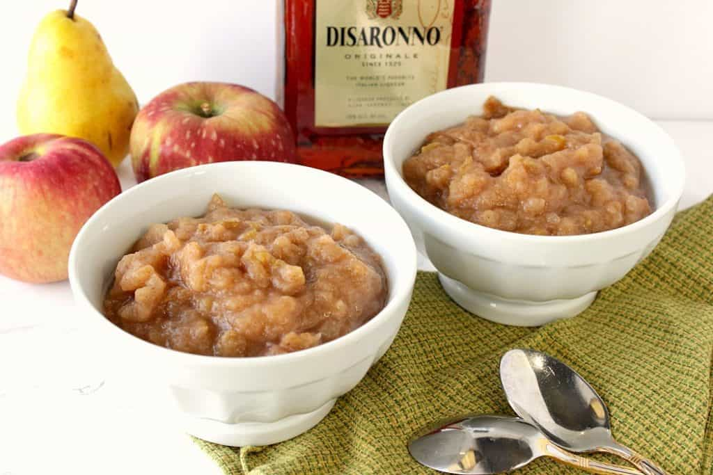 Apple Pear Sauce with Amaretto