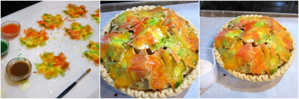 Delightfully Colorful Autumn Leaves Crusted Apple Pie