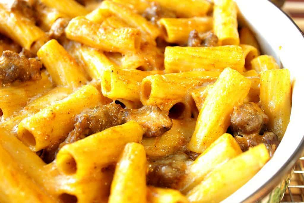 Pumpkin Cream Pasta with Sausage