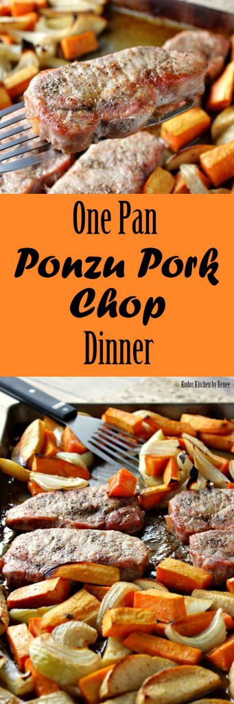 One Pan Ponzu Pork Chop Dinner | Kudos Kitchen by Renee