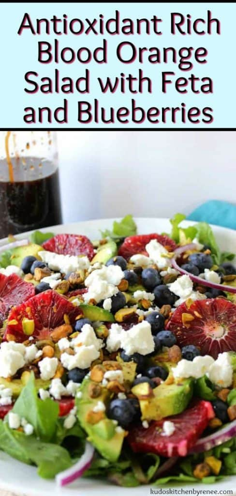 Antioxidant Rich Blood Orange Salad with Blueberries & Feta - kudoskitchenbyrenee.com