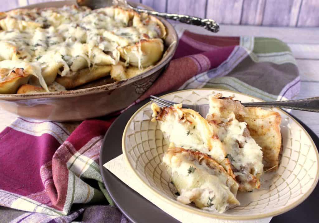 Crave-worthy French Onion Stuffed Shells - www.kudoskitchenbyrenee.com