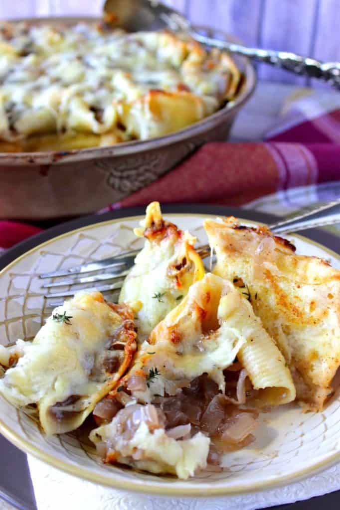 Crave-Worthy French Onion Stuffed Shells Recipe - www.kudoskithenbyrenee.com