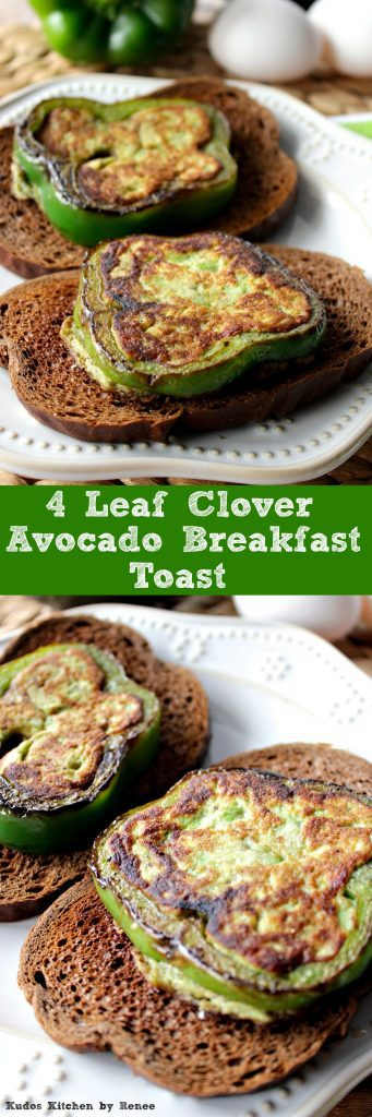 Avocado Breakfast Toast with Green Pepper