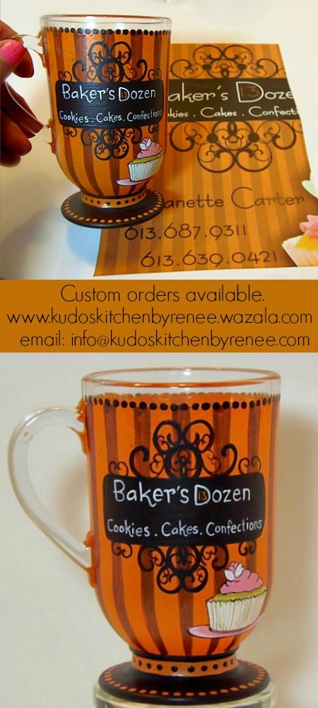 Hand Painted Business Logo Mug - www.kudoskitchenbyrenee.wazala.com