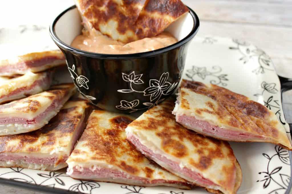 Corned Beef & Swiss Cheese Ruben Quesadilla