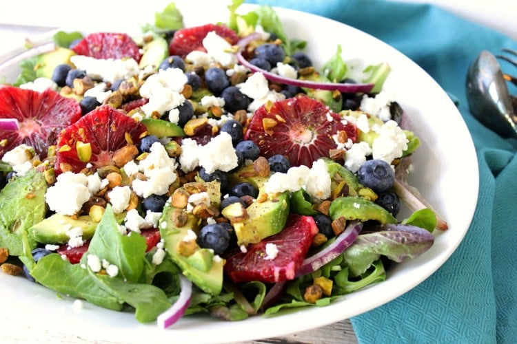 Blood Orange and Blueberry Salad