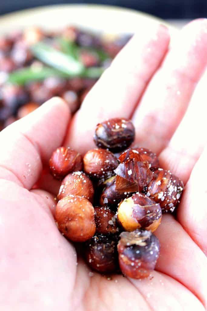 Roasted Rosemary Hazelnuts