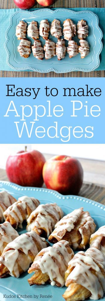 Vertical Title Text Collage image of apple pie wedges
