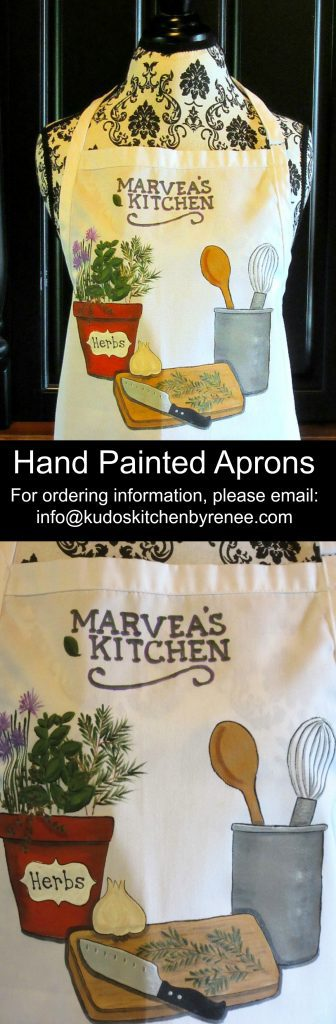 Hand Painted Cooking with Herbs Apron