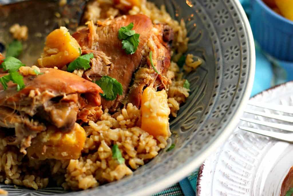 Hawaiian Pineapple Chicken Thighs for the Slow Cooker
