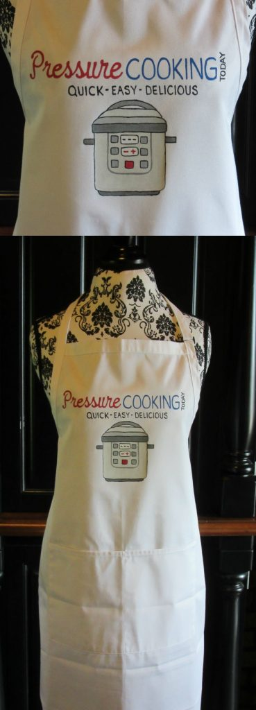 Pressure Cooking Today Hand Painted Logo Apron