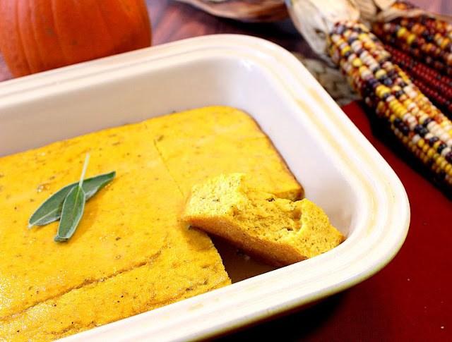 Buttery Pumpkin Sage Cornbread