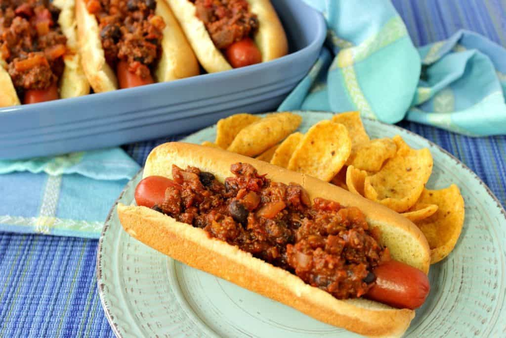 Southwestern Sloppy Jose Hot Dogs