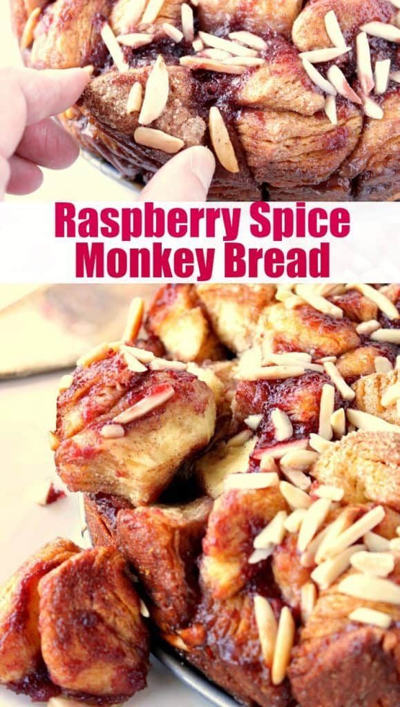 Collage image for Raspberry Spice Monkey Bread