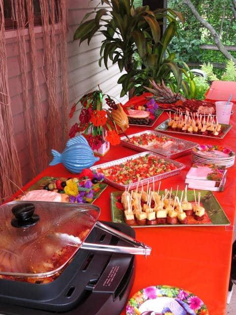 Luau Appetizer Table 2015