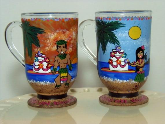 Custom Luau Hawaiian Coffee Mugs