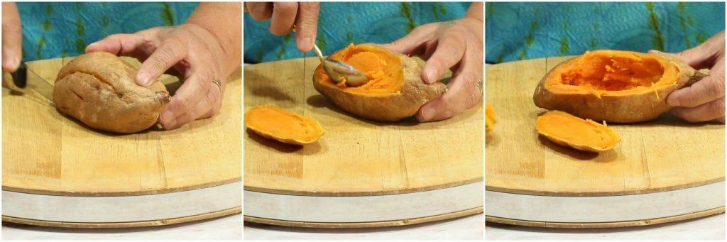 Twice Baked Sweet Potato Boats photo tutorial