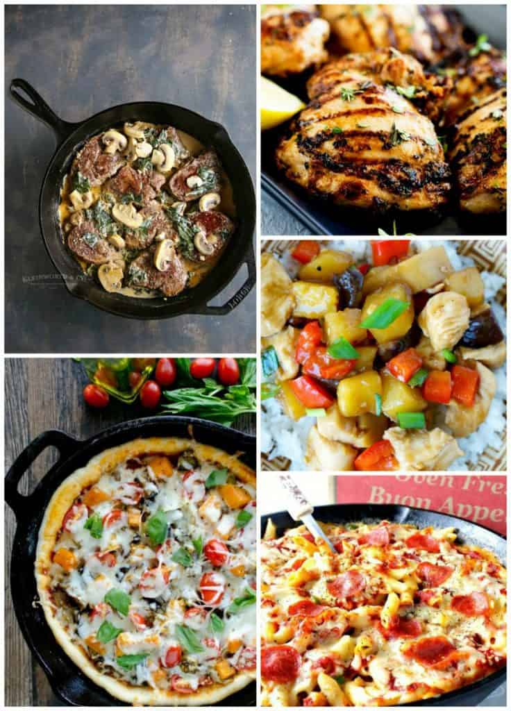 Weekly Meal Planning Collage Week 34 Thrive at Five