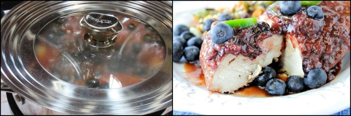How to make Blueberry BBQ Sauce Chicken photo tutorial.